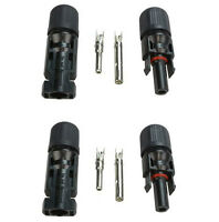 2 pairs MC4 Male Female M/F Wire PV Cable Connector Set for Solar Panel