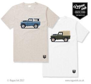 Land Rover Defender Series 2 Hard Soft T-Shirt Illustration 100% Cotton T-Shirt