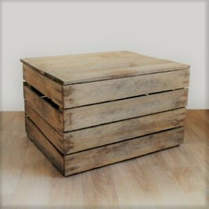 SMALL VINTAGE WOODEN TRUNK - Handmade in the UK from genuine reclaimed wood