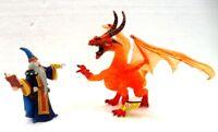 """Plastoy 60460 + 60240 """"Mago contro Drago di fuoco translucido rosso"""""""