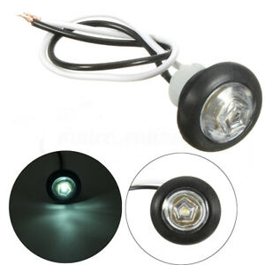 RV Truck Trailer Boat Bus LED Clearence Round Indicator Side Marker Light