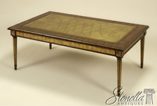 L43843: Maitland Smith 3330-690 Rosewood Rosewood Glass Top Coffee Table ~ New