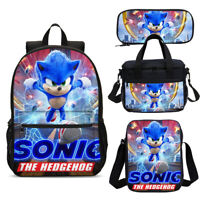 Sonic The Hedgehog Movie Student Big Backpack Insulated Lunch Bag Pen Case Lot