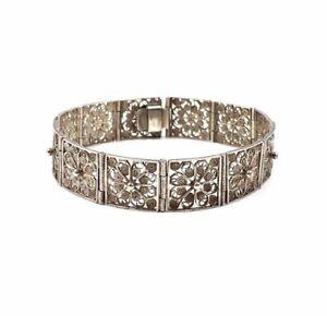 17.5cm 800 antik Silber Armband Jugendstil Deutschland Armband Arm Kette Vintage