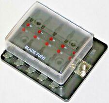 KFZ/Wohnwagen/Boot: 10-Fach, Sicherungsdose mit Ausfallled, LED,Sicherungshalter