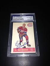 Bert Olmstead Signed 1957-58 Parkhurst Canadiens Card PSA Slabbed #83428705