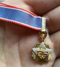 YUGOSLAVIA ARMY MEDAL MINIATURE ORDER YUGOSLAV FLAG 3rd degree