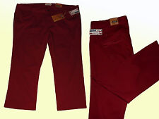 weinrote Damenjeans Jeans Stretchjeans Hose Übergröße Gr. 56  5 XL Straight
