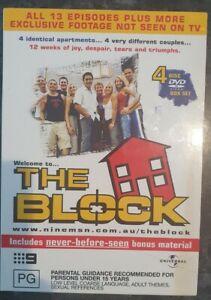 THE BLOCK Original First Season DVD REGION 4 BOX SET 4 Discs FREE POST