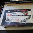 Vintage Craftsman 45° Miter Box & Corner Clamp-Accurately Holds Miters-No.9-6661