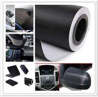 "Black 3D DIY Carbon Fiber Vinyl Car Wrap Sheet Roll Film Sticker Decal 20""x 50"""
