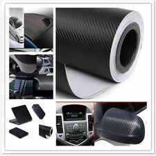 "Black 3D DIY Carbon Fiber Vinyl Car Wrap Sheet Roll Film Sticker Decal 20""x 50"""