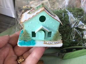 Tim Holtz Paper Village House  TINY CHRISTMAS ORNAMENT Handcrafted OOAK #12