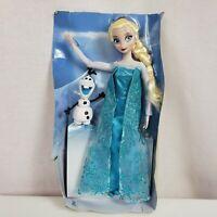 "Disney Frozen Princess Elsa Doll and Olaf Snowman 12"""