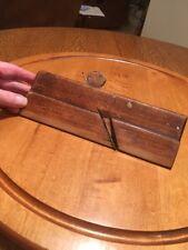 """Vintage. 9-1/2"""" Long J. E. EBDON Wood Molding Moulding Plane. 5/16""""."""