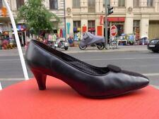 Dorndorf Chic und bequem Damen Schuhe Pumps Gr. 39,5 Uk 6,5 Schwarz Vintage Vtg.