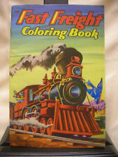 Vintage 1953 Train Coloring Book Fast Freight Not Used Florian Saalfield Pub.