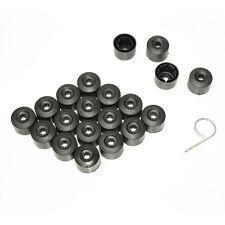 17mm Black Car Wheel Locking Nut Bolt Covers Caps Fits Vw Lupo Polo 20pcs