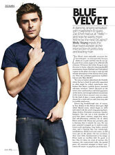 Zac Efron 2pg ELLE magazine feature, clippings