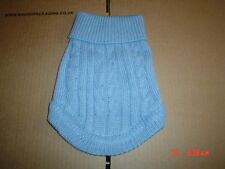 Very cute Light Blue Dog Knitted Sweater Jumper XS