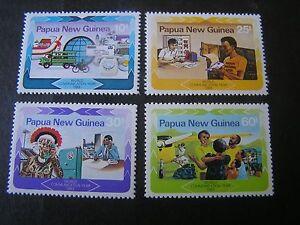 PAPUA NEW GUINEA, SCOTT # 584-587(4),COMPLETE SET 1983 COMMUNICATION YEAR MNH