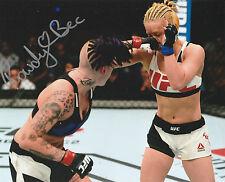 ROWDY BEC RAWLINGS SIGNED AUTO'D 8X10 PHOTO UFC FIGHT NIGHT TUF 20 MMA VS HAM A