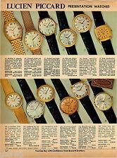 1969 ADVERTISEMENT 3 Pg Watches Lucien Piccard Gruen Golden Eagle Presentation