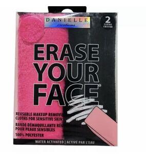 Erase Your Face Reusable Makeup Removing Cloth Towel 2 Pack NIB