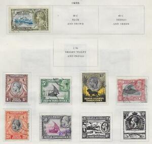 7 Kenya - Uganda - Tanganyika Stamps from Quality Old Antique Album 1935