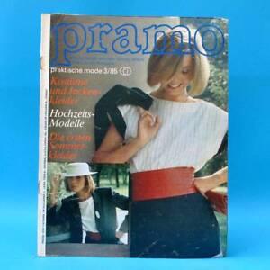 DDR Pramo 3/1985 Praktische Mode Schnittmuster F Hochzeit Jackenkleider Kostüme