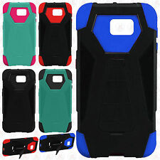 For Samsung Galaxy Note 7 Turbo Layer HYBRID KICKSTAND Rubber Case +Screen Guard