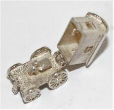 Vintage Sterling Silver Bracelet Charm Opening Gypsy Wagon Fortune Teller (3.7g)