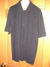 Greg Norman men's polo shirt size M Medium SS USED WORN black play dry