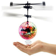 LED Toy Induction Suspension Fly Ball Helicopter Flash Glow RC Aircraft Kid FO