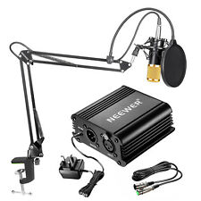 Neewer NW-800 Condenser Microphone Kit Gold Mic Arm Stand Shock Mount Pop Filter
