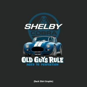 """OLD GUYS RULE LICENSED SHELBY COBRA 427 """"AGED TO PERFECTION"""" T-SHIRT SIZES M-3X"""