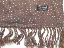 VINTAGE 1960'S TOOTAL SCARF REVERSIBLE PAISLEY GREEN, RED & YELLOW TOOA257  #