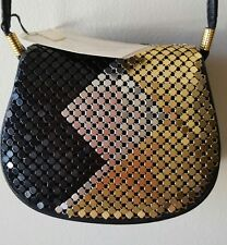New w/Tag Y & S Original Shoulder Clutch Black/Silver/Gold