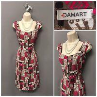 Damart Multicoloured Mix Retro Dress 12 Sleeveless EUR 40