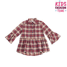 Le Petit Coco Shirt Dress Size 5-6Y Tartan Ruffles Made in Italy