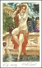 David Bekker 1999 Exlibris C4 Mythology Susanna Erotic Erotik Nude Woman 698
