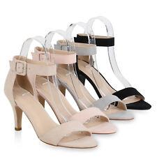 Damen Sandaletten Riemchensandaletten High Heels Abendschuhe 821887 Schuhe