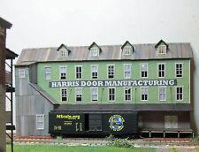 HARRIS MANUFACTURING N Scale Model Railroad Structure Unptd Laser Kit RSL3063