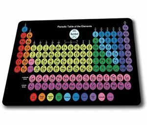 CCouqi Colored Periodic table of the elements Quality Thick Rubber Speed Gaming