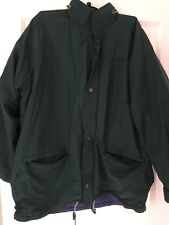 DASH Man's Lined Winter Coat - Green - with hood