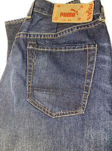 Men's Evisu Puma Collaboration Jeans EU~ED  32x33 Selvedge  Made In Italy
