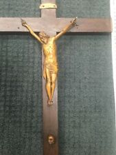 wooden statue jesus 18/17th century antique wood carved corpus christie crucifix