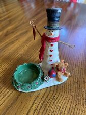 Yankee Candle Snowman With hanging Heart Tea Light Holder