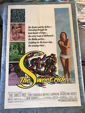 "The Sweet Ride 1968 Orig. 1 Sheet Movie Poster 27""x41"" (F/VF) Jacqueline Bisset"