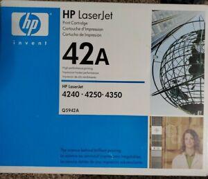 HP 42A Black Toner Cartridge Q5942A Genuine OEM For HP LaserJet 4240 4250 4350